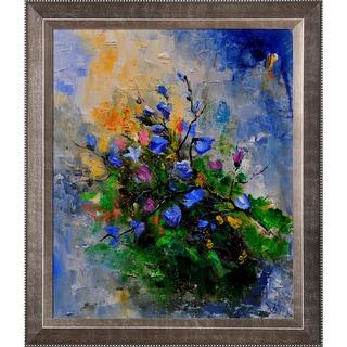 Pol Ledent 'Blue chicorees ' Framed Fine Art Print