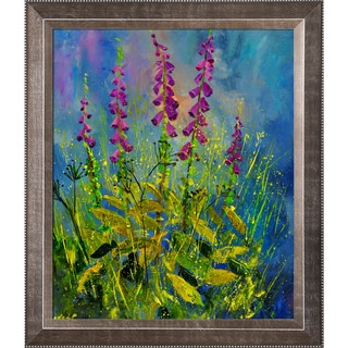 Pol Ledent 'Foxgloves 671170 ' Framed Fine Art Print