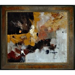 Pol Ledent 'Abstract 88210112 ' Framed Fine Art Print