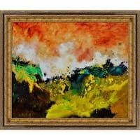 Pol Ledent 'Abstract 1811807 ' Framed Fine Art Print