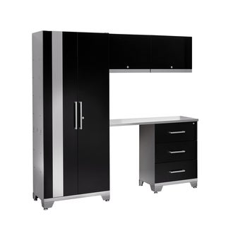 NewAge Products Performance Series 5-piece Cabinet Set with Tool Drawer (Black)