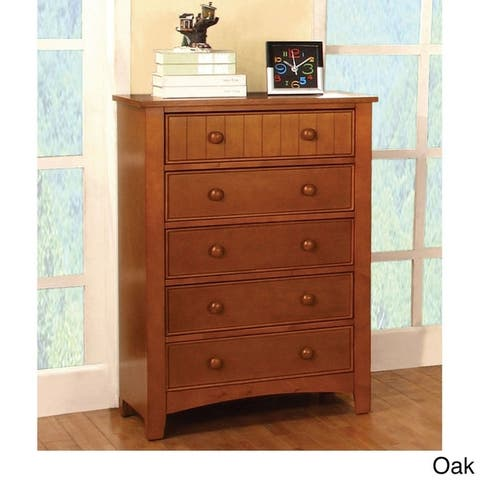 Furniture of America Hae Traditional Solid Wood 5-drawer Chest