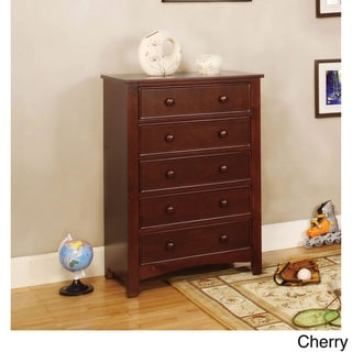 Link to Furniture of America Hae Traditional Solid Wood 5-drawer Chest Similar Items in Kids' Dressers