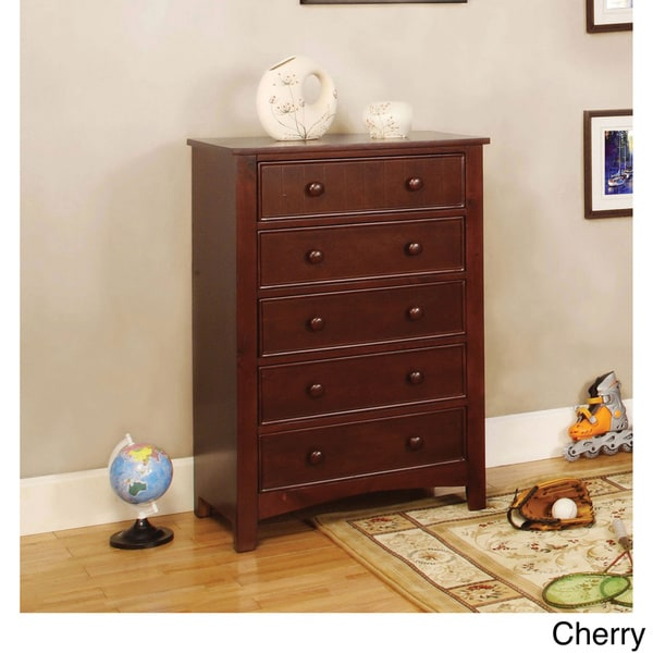 Furniture of America Hae Traditional Solid Wood 5-drawer Chest. Opens flyout.