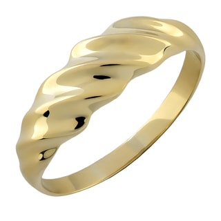 Fremada 10k Yellow Gold High Polish Ripple Design Ring