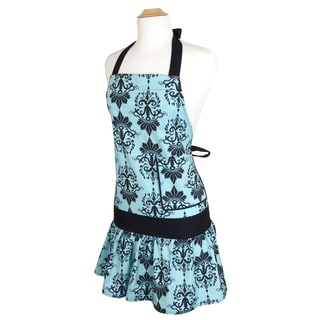 Aqua Damask Women's Sadie Flirty Apron