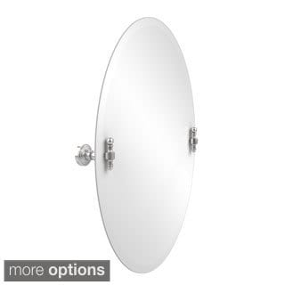 Retro Wave Collection Unframed Oval Tilt Wall Mirror