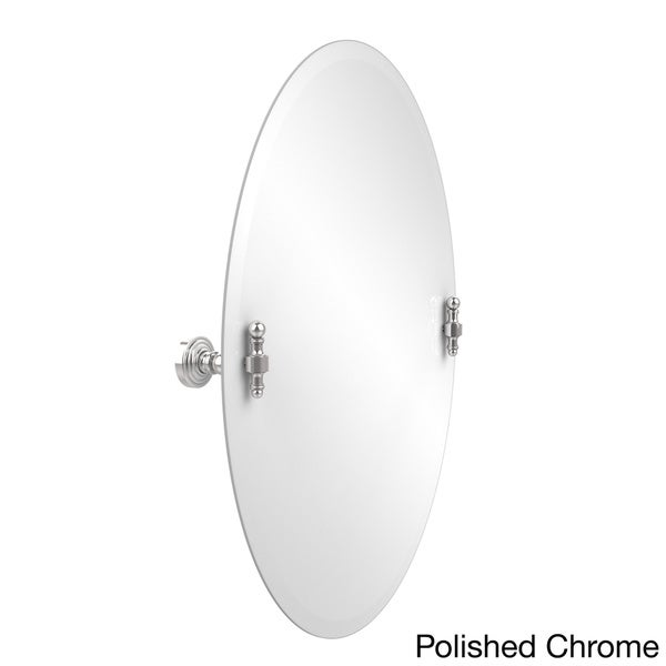 Chrome Wall Mirror retro wave collection unframed oval tilt wall mirror - free
