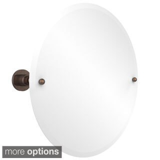 Allied Brass Astor Place Collection Beveled Edge Unframed Round Tilt Wall Mirror