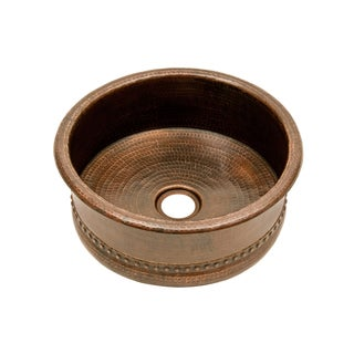 Premier Copper Products 15-inch Round Bar Vessel Tub Sink