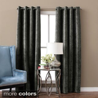Beautiful Austin Horn Classics Elite Velvet Chenille Luxury Curtain Panel