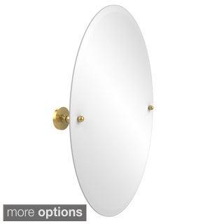 Allied Brass Frameless Oval Tilt Wall Mirror