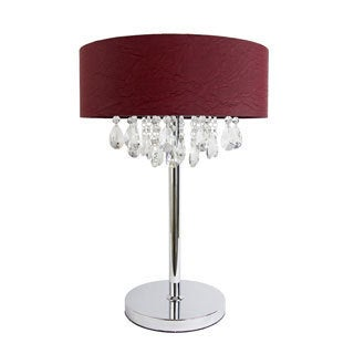 Elegant Designs Romazzino Chrome Finished Crystal Table Lamp