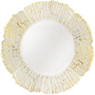 Deniz Flower Shape Charger Plate