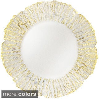 Deniz Flower Shape Charger Plate