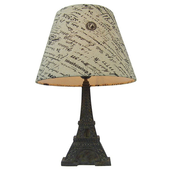 simple designs paris eiffel tower lamp and printed shade - free