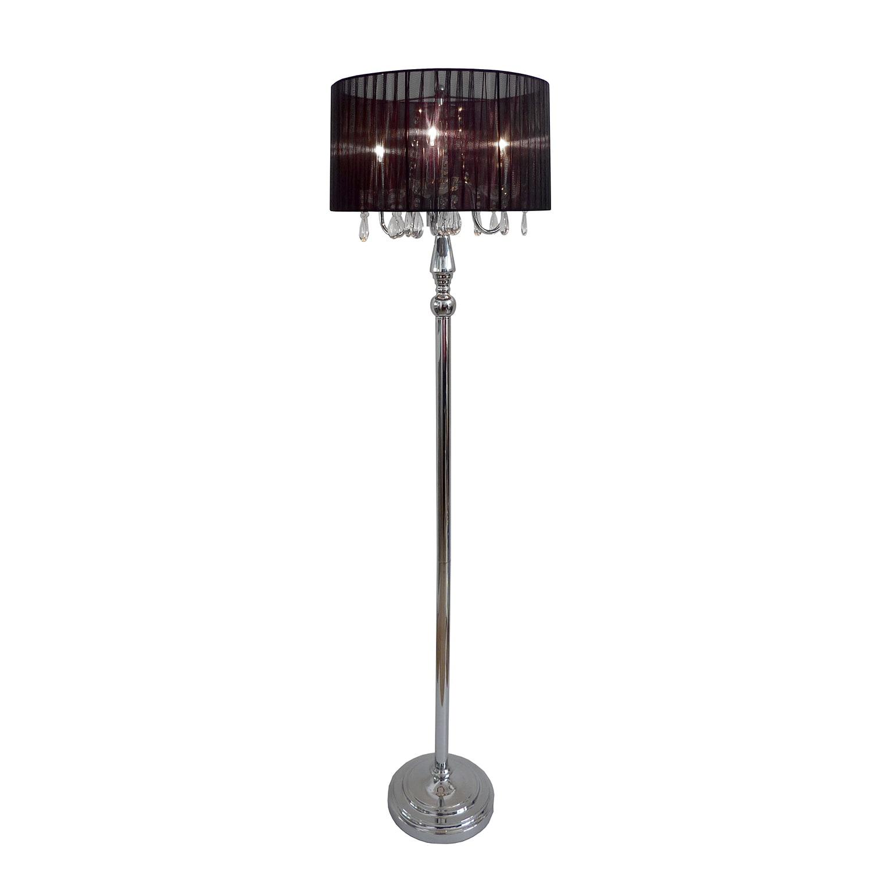 Elegant designs lf 1002 blk trendy sheer floor lamp with hanging picture 5 of 8 aloadofball Images