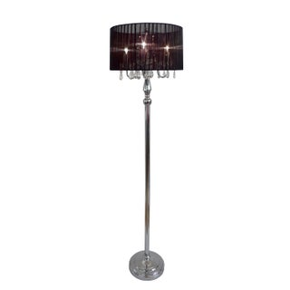 Silver Orchid Bacall Trendy Sheer Shade Floor Lamp and Hanging Crystals (3 options available)