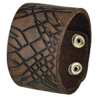 Nemesis Brown Cracked Leather Snap-on Cuff Bracelet|https://ak1.ostkcdn.com/images/products/9428362/P16614698.jpg?impolicy=medium