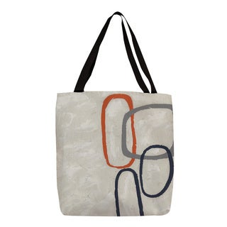 Thumbprintz 'Capacity I' Graphic-print Canvas Tote