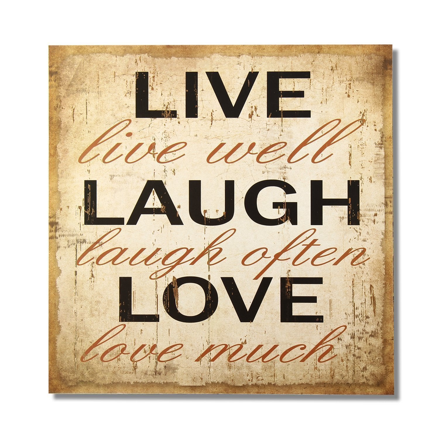 Adeco Decorative Wood Wall Sign Plaque Live Laugh Love Overstock 9428417