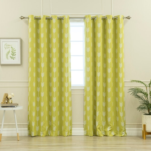 Aurora Home Arrow 52 Inch X 84 Inch Room Darkening Blackout Grommet Curtain  Panel