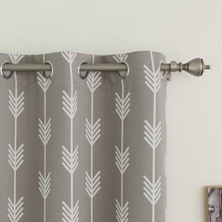 Aurora Home Arrow Room Darkening Blackout Grommet 84-inch Curtain Panel Pair