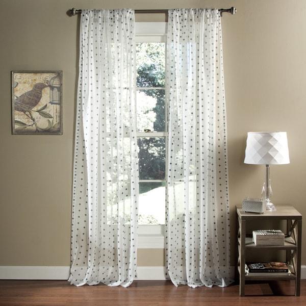 Shop Lush Decor Polka Dot Sheer Curtain Panel Pair