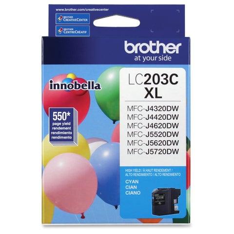 Brother Genuine Innobella LC203C High Yield Cyan Ink Cartridge