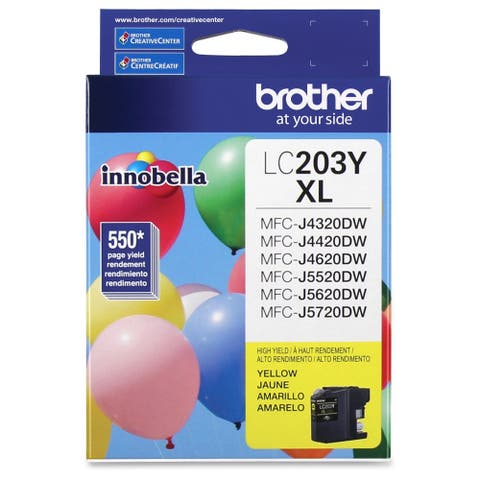 Brother Genuine Innobella LC203Y High Yield Yellow Ink Cartridge