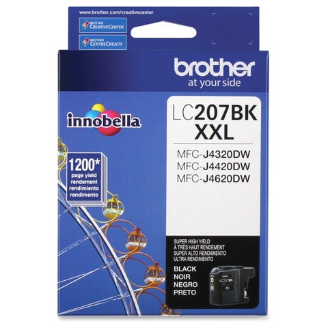 Brother Genuine LC207BK Super High Yield Black Ink Cartridge