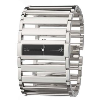 Calvin Klein Women's K4423130 Cuff Black Dial Watch
