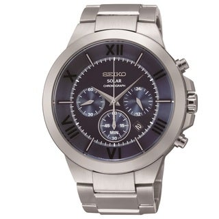 Seiko Men's SSC281 Solar Stainless Steel Chronograph Watch
