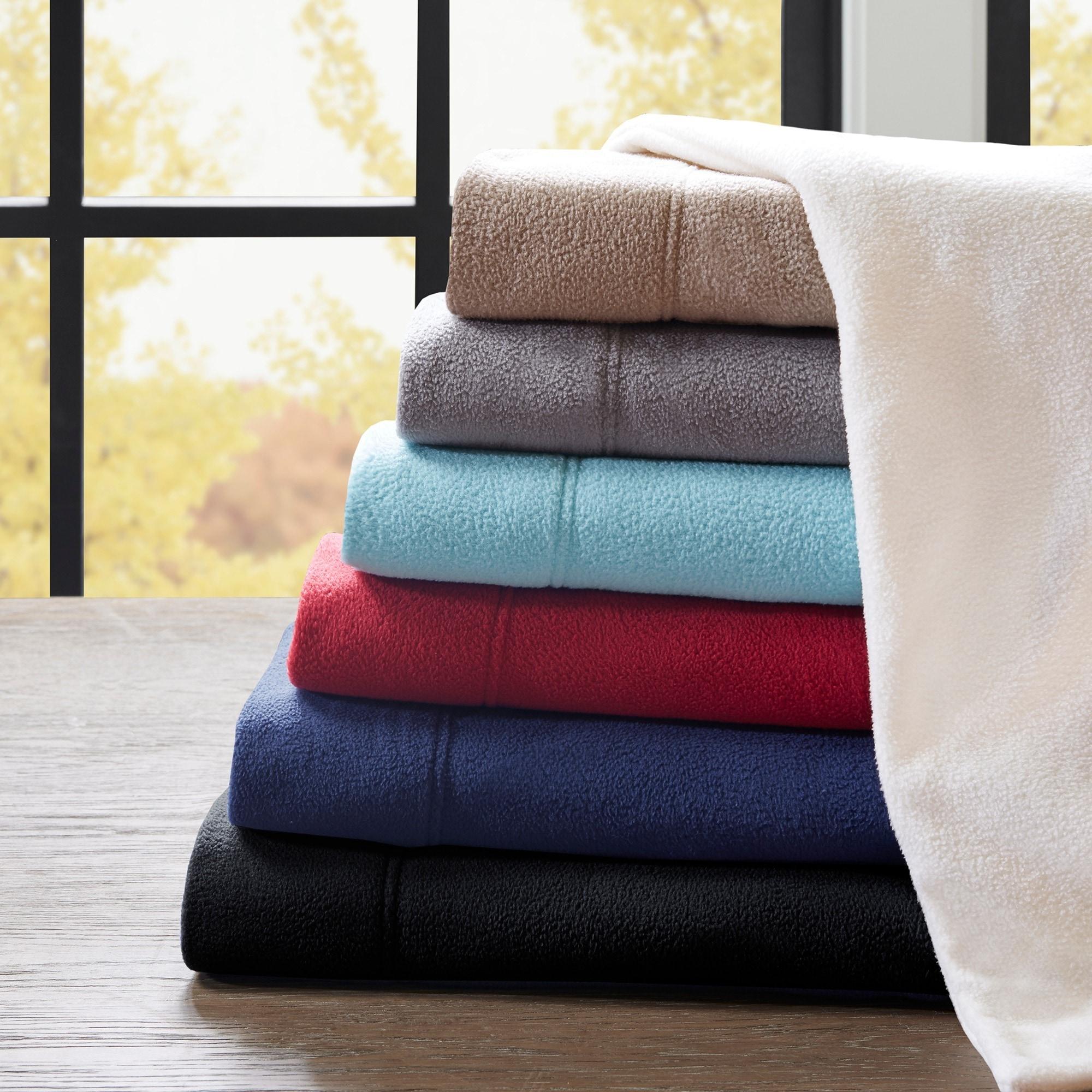 Peak Performance 3M Scotchgard Stain Resistant Fleece Sheet Set