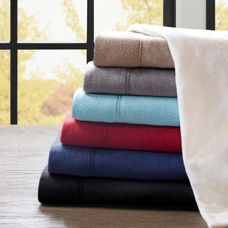 Superb Pine Canopy Little River Stain Resistant Fleece Sheet Set
