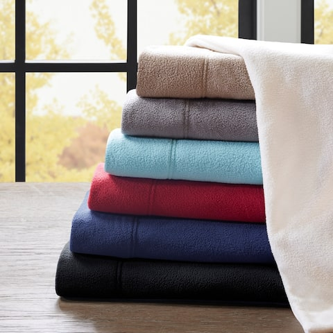 Porch & Den Herron Stain Resistant Fleece Bed Sheet Set