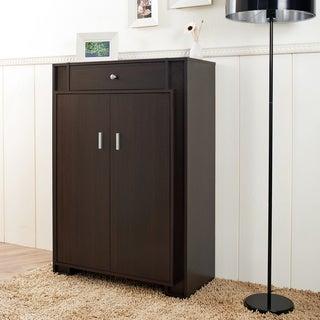 Furniture of America Mizayi Sleek Espresso Storage Cabinet