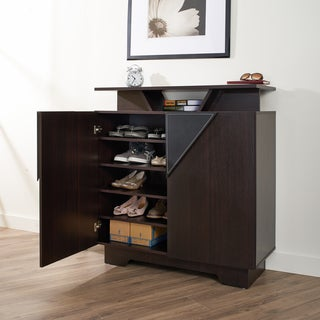 Furniture of America Vitros Bold Espresso Storage Cabinet
