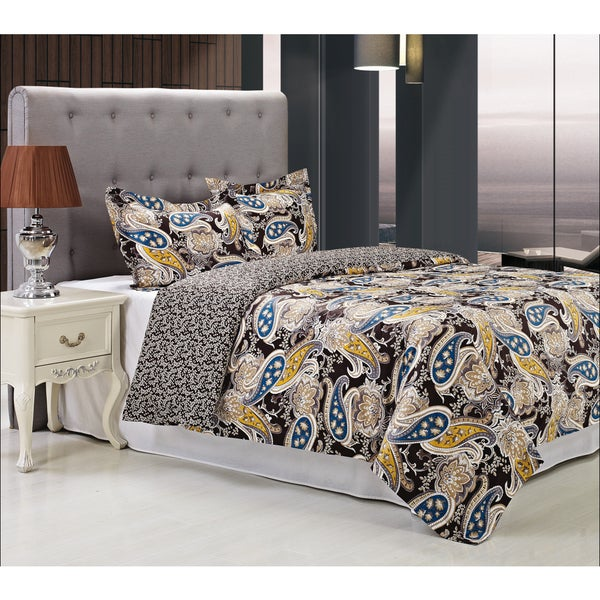 Superior Midnight 300 Thread Count 3-piece Cotton Duvet Cover Set