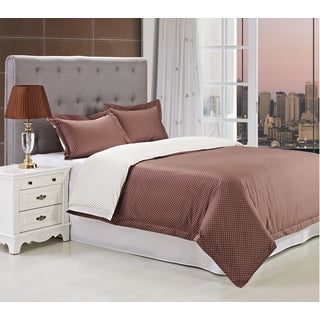 Superior Campbell 300 Thread Count 3-piece Cotton Duvet Cover Set