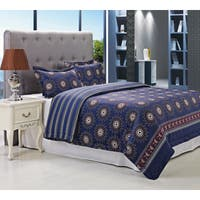 Superior Poplar Blue 300 Thread Count Cotton Duvet Cover Set