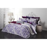 Crane Floral Sateen Cotton 3-piece Duvet Cover Set