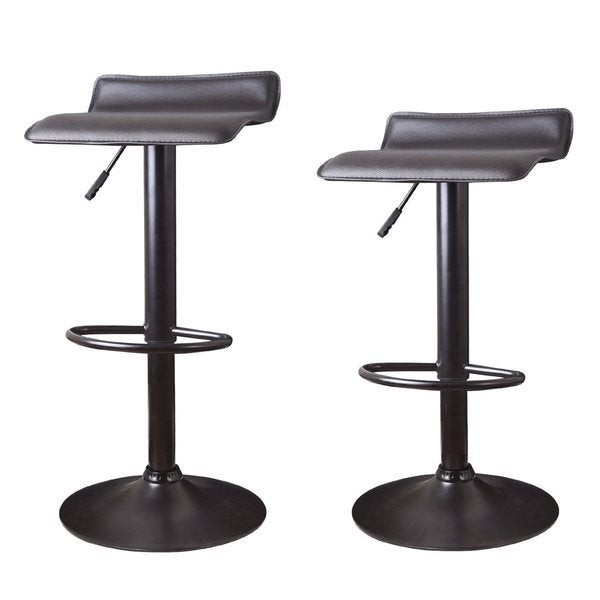 Shop Adeco Hydraulic Lift Adjustable Low Back Barstool