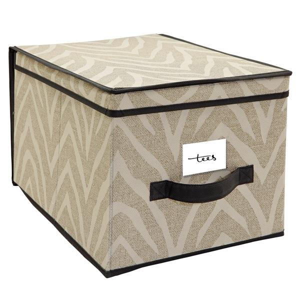 The Macbeth Collection Large Natural Zebra Storage Box