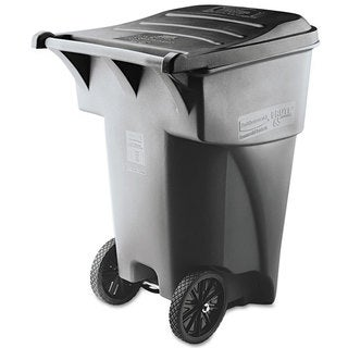 Rubbermaid Commercial Grey Brute Rollout Heavy-duty Square Waste Container
