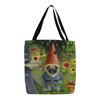 Thumbprintz Pug Gnome Graphic Print Tote