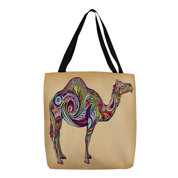 Colorful Camel Graphic Print Tote