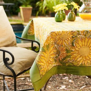 Couleur Nature Sunflower Rectangle Tablecloth