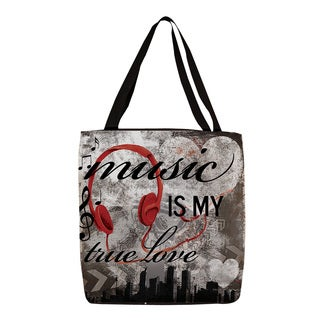 Thumbprintz 'Music is My True Love' Graphic Printed Tote