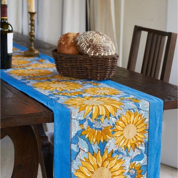 Couleur Nature Sunflower Table Runner   Free Shipping Today   Overstock.com    16620540